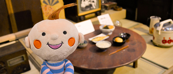 伊勢崎市赤堀歴史民俗資料館でのほぺたんの写真